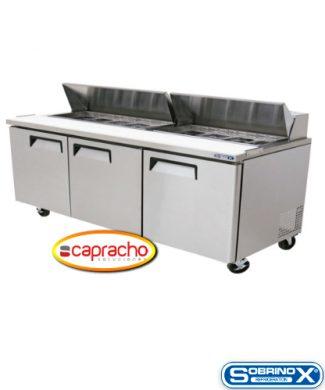 Cocina Industrial Capracho Sobrinox Mesa Refrigerada MRS 184 3P